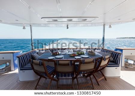 Luxury yacht sea #1330817450