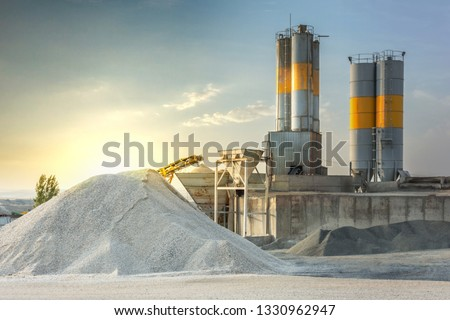 Sand destined to the manufacture of cement in a quarry Royalty-Free Stock Photo #1330962947