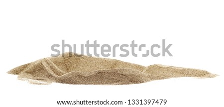 Pile desert sand dune isolated on white background, clipping path #1331397479