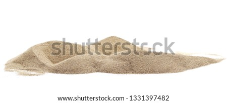 Pile desert sand dune isolated on white background, clipping path #1331397482