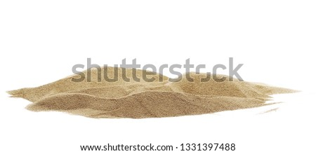 Pile desert sand dune isolated on white background, clipping path Royalty-Free Stock Photo #1331397488