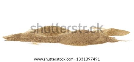 Pile desert sand dune isolated on white background, clipping path #1331397491