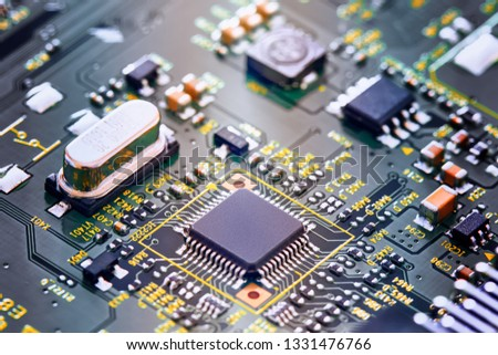 Electronic circuit board close up. #1331476766