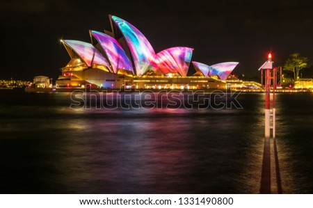 Vivid Sydney Opera House Royalty-Free Stock Photo #1331490800
