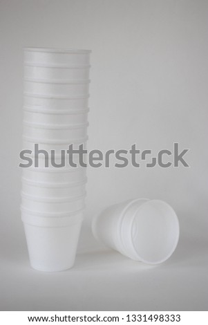 Styrofoam cups on a white background #1331498333