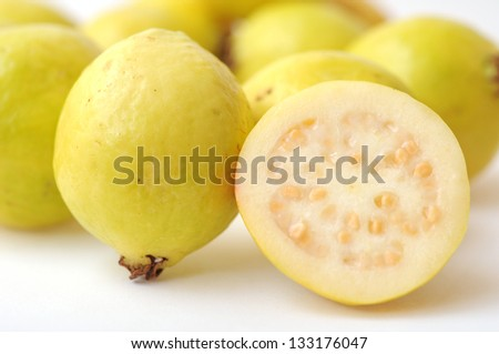 a lot of guava on white #133176047