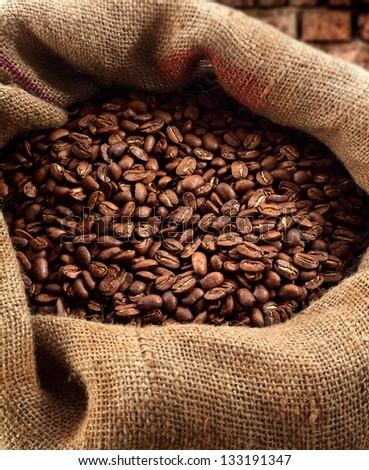 fresh coffee and sack #133191347