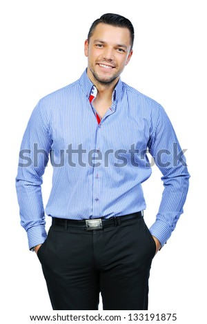 Elegant young handsome man - portrait #133191875