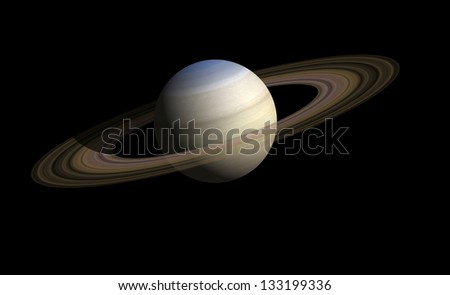 saturn. Elements of this image furnished by NASA