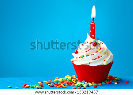 Birthday cupcake Royalty-Free Stock Photo #133219457