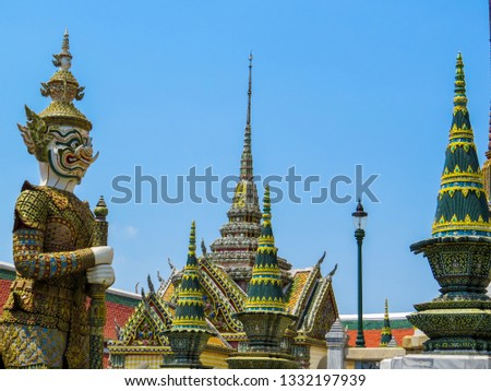 BANGKOK, THAILAND - MARCH 17, 2016: View of the Grand Palace.   #1332197939