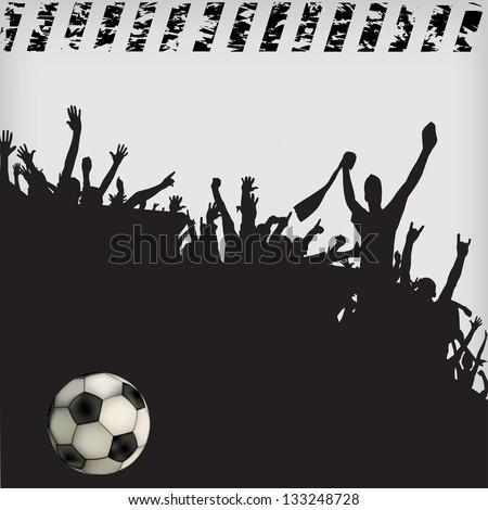 football fans crowd #133248728