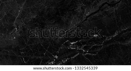 Black marble natural pattern for background, abstract natural marble black and white, black marble stone. high resolution marble #1332545339