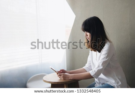 Lovely Asian young lady portriat - happy woman day lifestyle concept  #1332548405