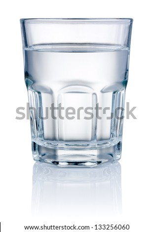 Glass of Water isolated on a white background #133256060