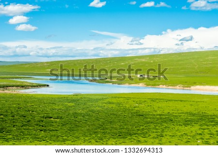 Sanjiangyuan Nature Reserve, the highest elevation natural wetland, Tibet, China #1332694313