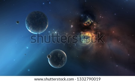 Galaxy Space Texture Background,Alien Planet Nebula #1332790019