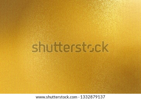 Shiny gold steel wall, abstract texture background #1332879137