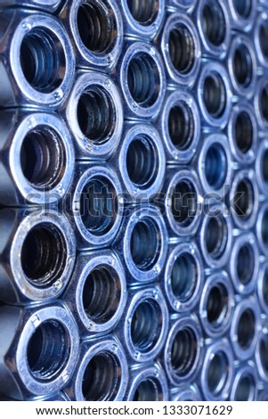 composition of iron nuts close-up, texture, background #1333071629