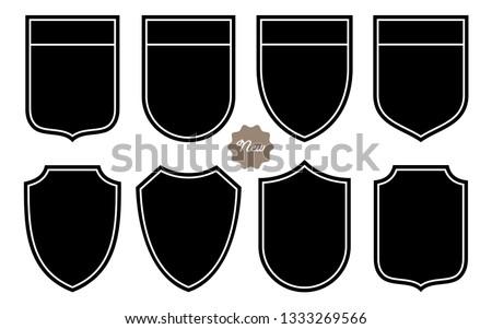 Badge Shape Set Vector Template #1333269566