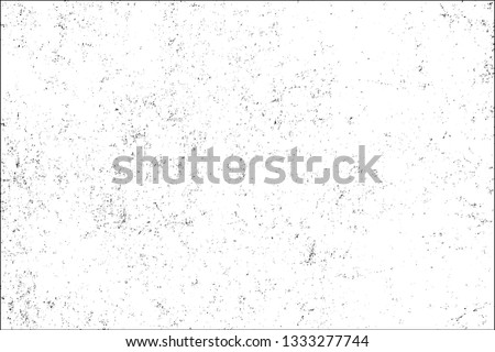 Texture of scratches, cracks, chips. Monochrome abstract grunge background. Black and white pattern of old surface. Template for texturing posters, business cards, labels, icons #1333277744