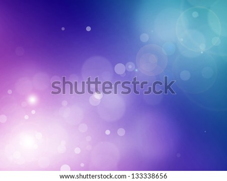 Blue violet bokeh abstract light background