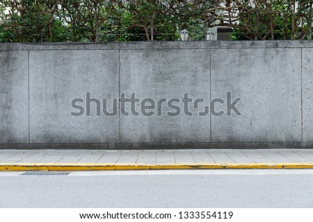street wall background ,Industrial background, empty grunge urban street with warehouse brick wall #1333554119