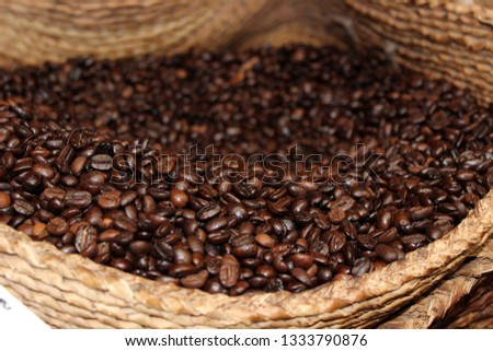 Coffee beans in bag #1333790876