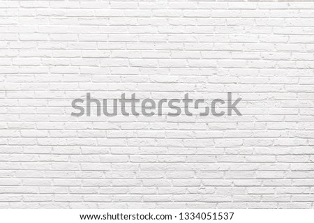 The Beautiful Soft Color of White Brick Wall Surface as Background, White brick wall Texture #1334051537