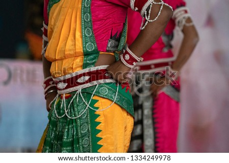 Indian traditional dancer foot detail #1334249978