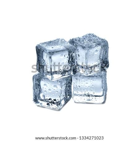 ice cubes on white background #1334271023