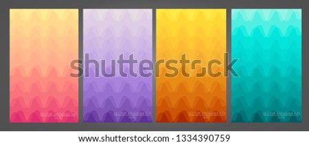 Set of colorful and modern backgrounds. Set of colorful geometric backgrounds. Set of modern backgrounds for your smartphone. Soft color gradients. Modern theme display. #1334390759