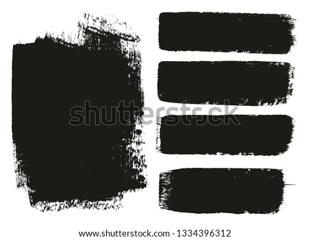 Paint Brush Medium Background & Lines High Detail Abstract Vector Background Mix Set 14 #1334396312