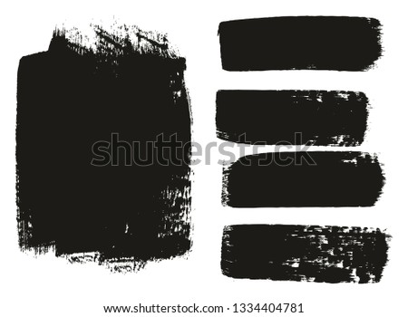Paint Brush Medium Background & Lines High Detail Abstract Vector Background Mix Set 02 #1334404781