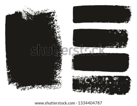 Paint Brush Medium Background & Lines High Detail Abstract Vector Background Mix Set 06 #1334404787
