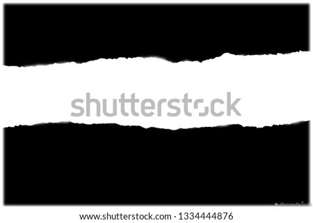Ripped black paper,copy space and advertising concept #1334444876