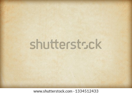 Old Paper texture. vintage paper background or texture; brown paper texture #1334512433