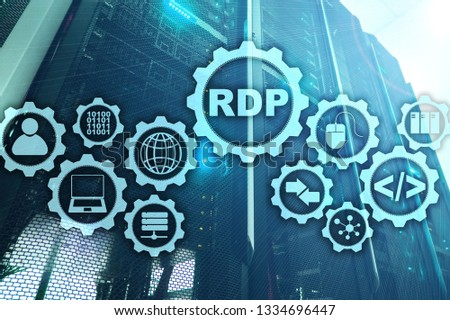 RDP Remote Desktop Protocol. Terminal Services. Server background #1334696447