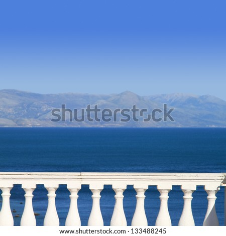View to Mediterranean sea from a balcony