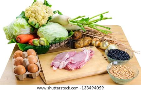 organic food on table #133494059