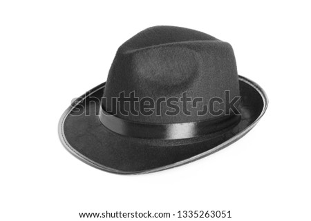 Male hat on white background #1335263051