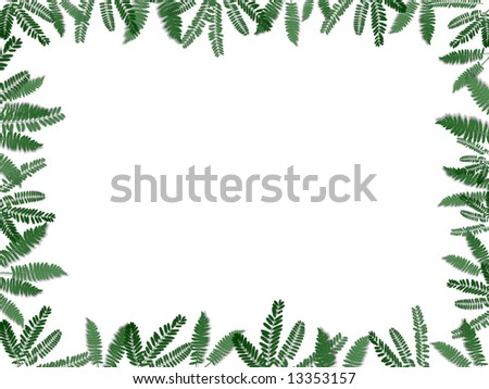Fern Leaf Picture Frame #13353157