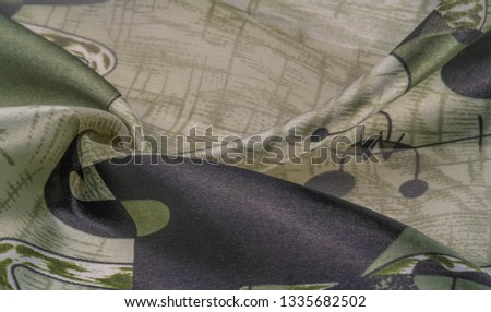 Background texture Universal georgette with a silk print, drawing cartoon people, your projects will be the best, creativity knows no bounds! dare to be the best #1335682502