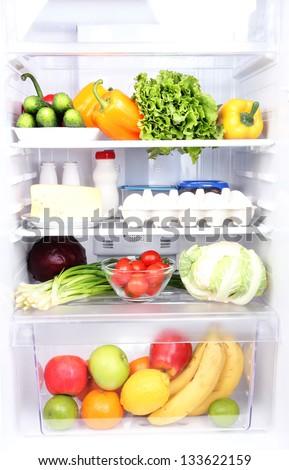 Refrigerator full of food #133622159