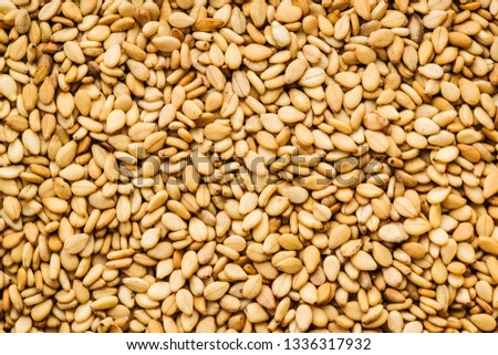 Roasted sesame seeds.  Pattern of sesame. #1336317932