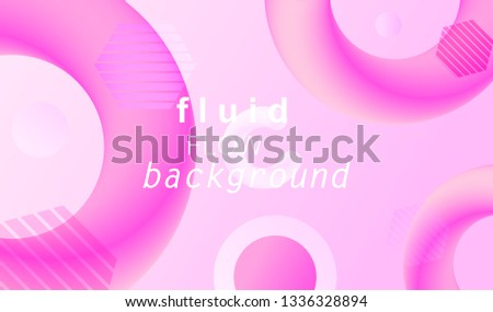 Fluid 3d abstract background. Futuristic liquid gradient shapes design. Vector eps10. #1336328894