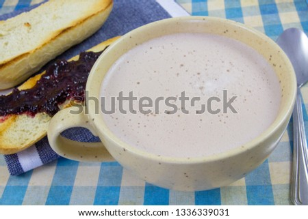 breakfast with hot chocolate #1336339031