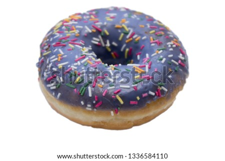 Donut with sprinkles isolated on white background #1336584110