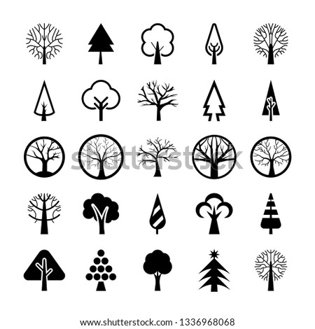 Tree Symbols Vector Pack  #1336968068