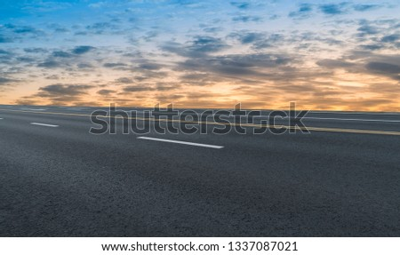 Road surface and sky cloud landscape #1337087021